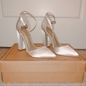 White Satin-Like Heels